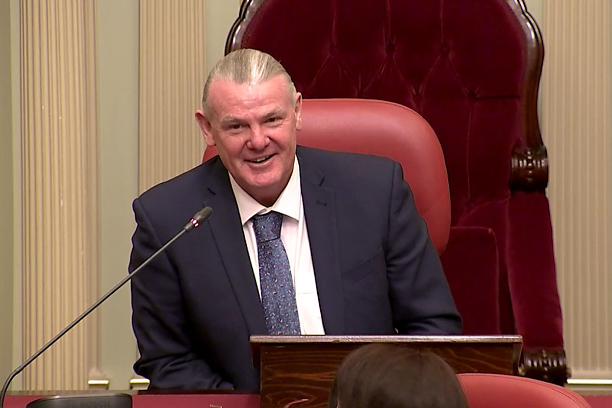 President of the Legislative Council Shaun Leane