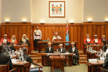 Fiji Parliament opening in 2014