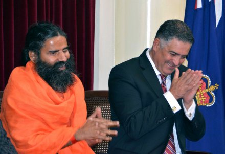 Swami with Speaker